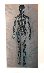 Black Nervous System, laser cut painted